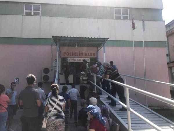 Çine'de aşı kuyruğu