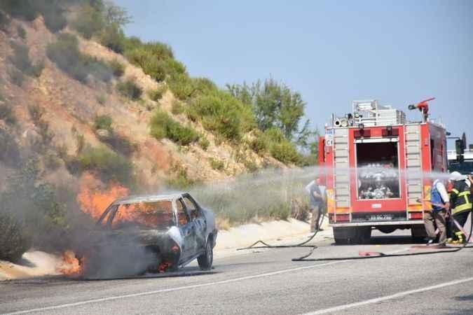 Aydın'da 17 araç yandı