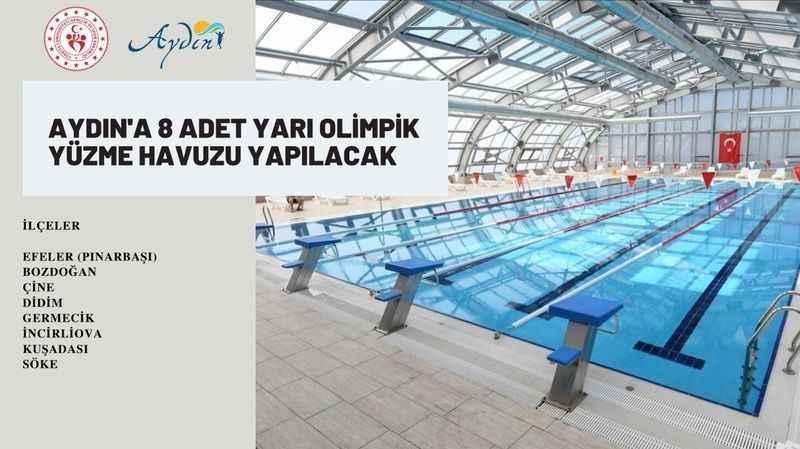 Aydın'a 8 yarı olimpik yüzme havuzu yapılacak
