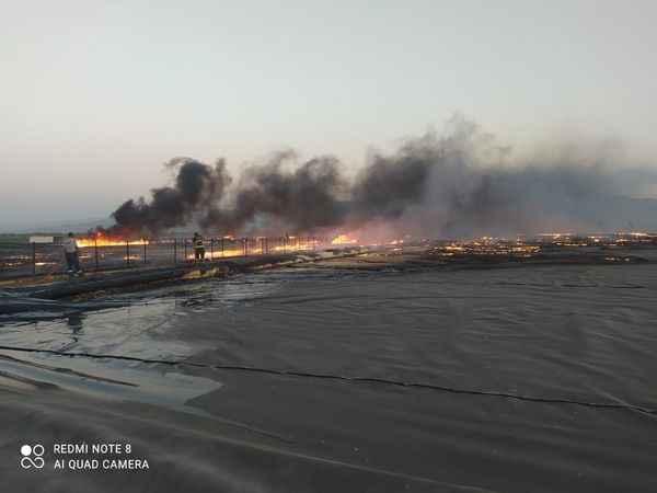 Biyogaz tesisinde yangın