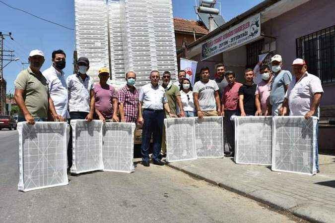 İncir üreticilerine, kurutma kereveti dağıtıldı
