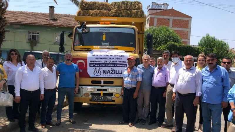 Nazilli'den Manavgat'a yardım eli