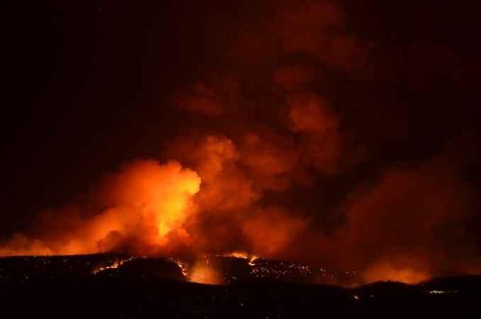 Bozdoğan'daki orman yangınına müdahale sürüyor