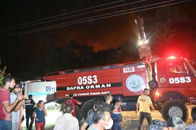 AK Parti ve MHP, Karacasu'da yangın bölgesinde