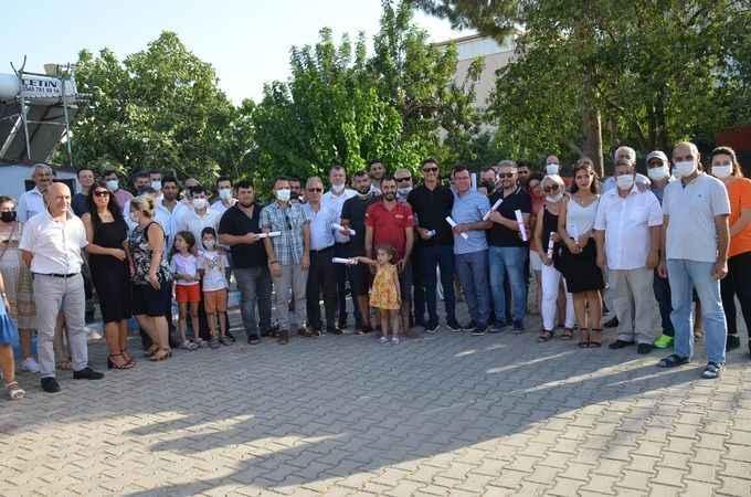 Oda Başkanı Erul, 81 liseli ile birlikte diplomasını aldı