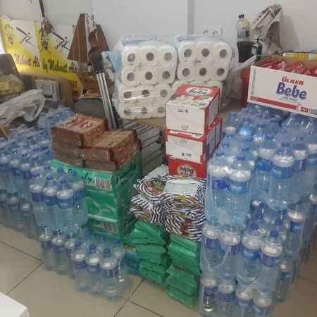 Altınkum'da toplanan yardımlar Milas'a ulaştırıldı