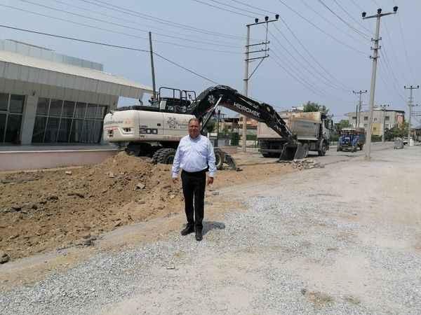 Aydın BŞB, Çine'de asfalt kaplama çalışmalarına devam ediyor