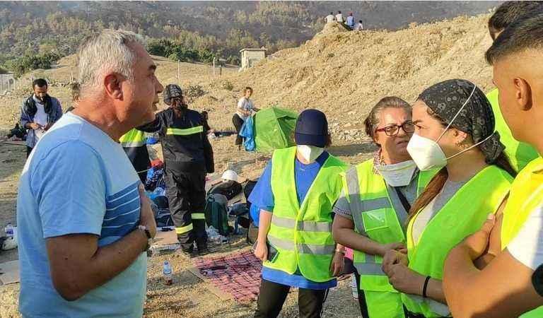 CHP'li Çankır, yangın bölgesinde incelemelerde bulundu