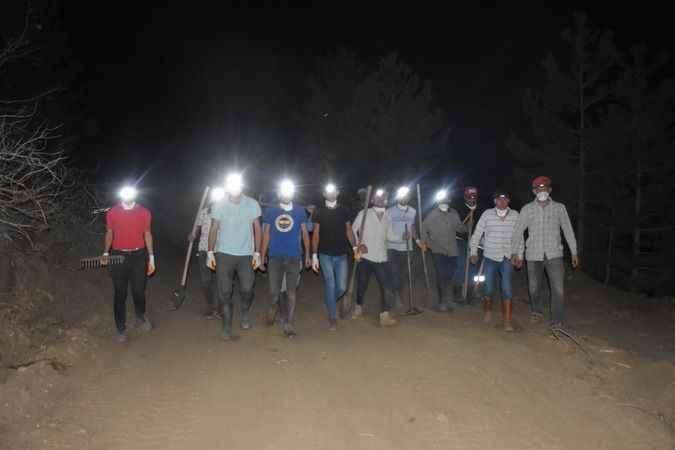 Karacasu'da yangın nöbeti