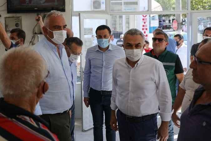 Bakan Ersoy, yangın bölgesinde incelemelerde bulundu