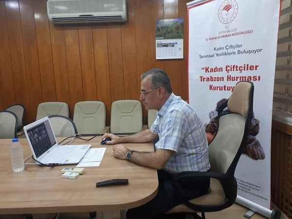 Trabzon hurması yetiştiricilerine kurutma yöntemleri anlatıldı