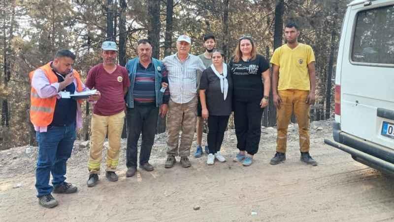 İYİ Parti Karacasu'dan yangın bölgesine destek