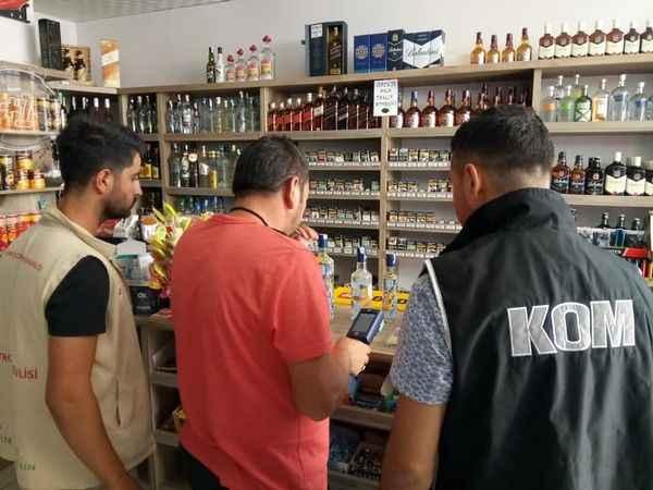 Didim'de kaçak ve sahte alkol denetimi yapıldı