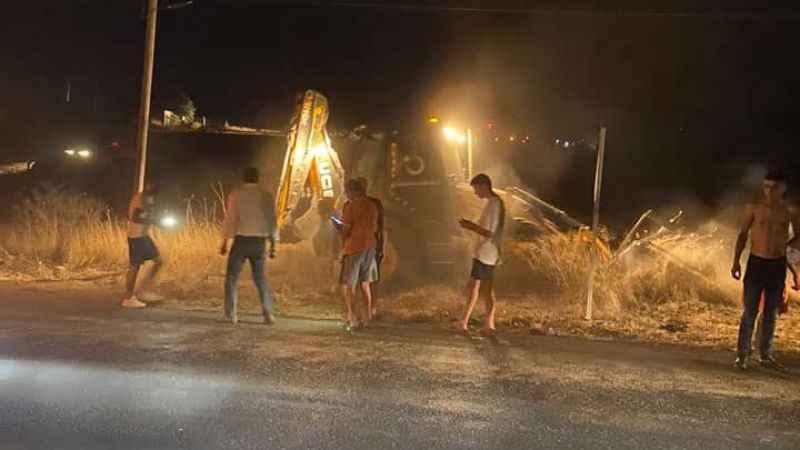 Didim'de makilik yangını korkuttu