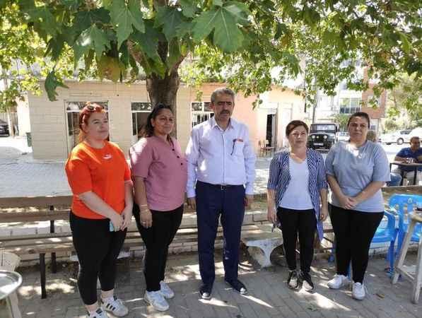 MHP'li Alıcık, yangın bölgesini ziyaret etti