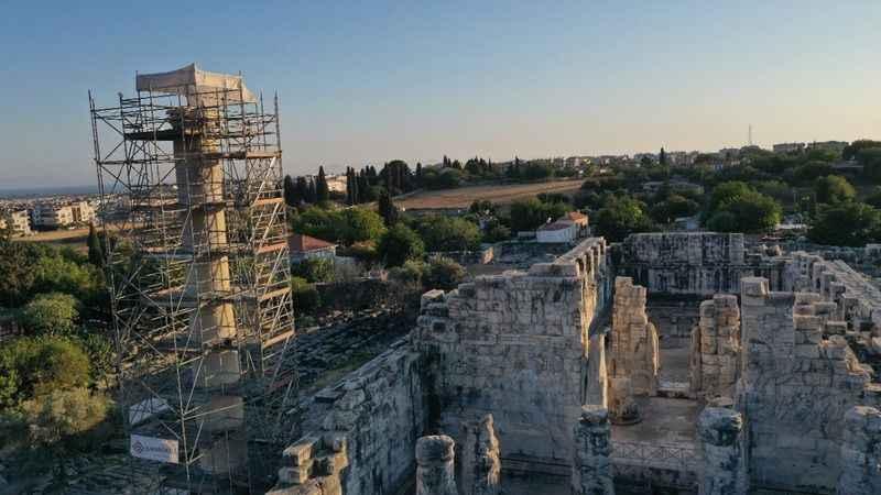2 bin 300 yıllık sütunlar restore ediliyor