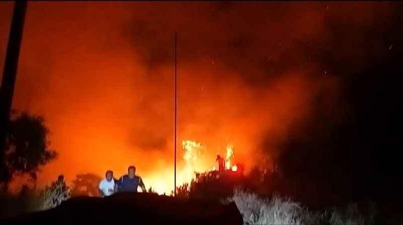 Yangından korku dolu kaçış görüntüleri ortaya çıktı