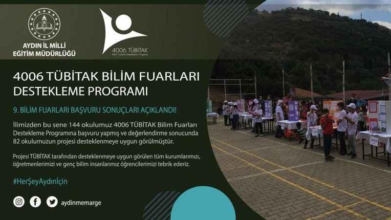 Aydın'da 82 bilim fuarı açılacak