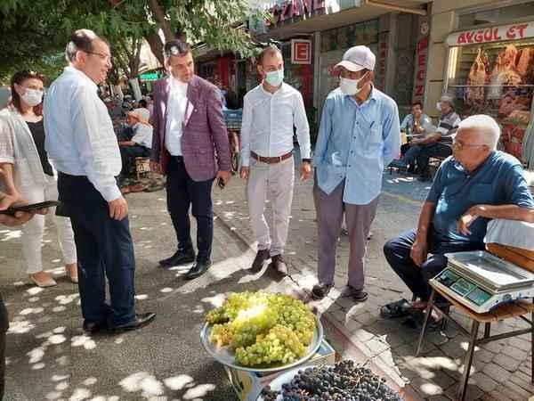 Milletvekili Erim, İncirliova'da esnaf ve vatandaşla buluştu