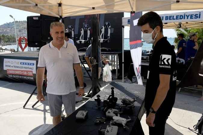 Kuşadası'nda drone yarışmaları nefes kesti