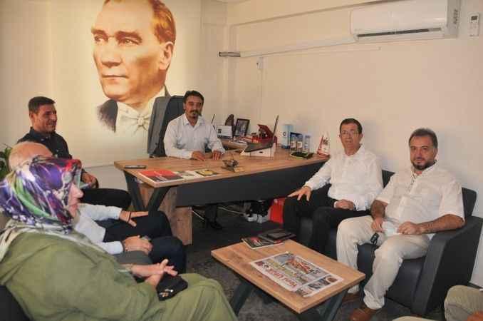 Başkan Ulucan, gazetecilerin sorun ve taleplerini AK Partili Erim'e anlattı