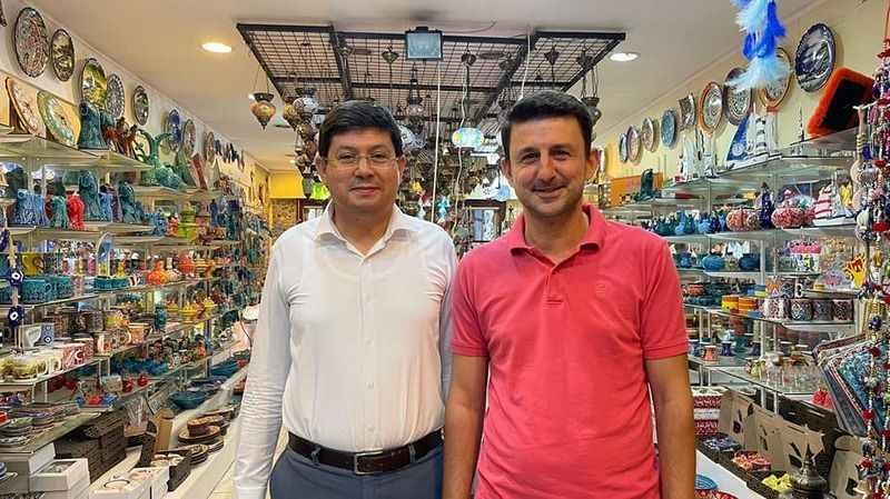Başkan Özcan bu kez MHP'li Bayraktar ile buluştu
