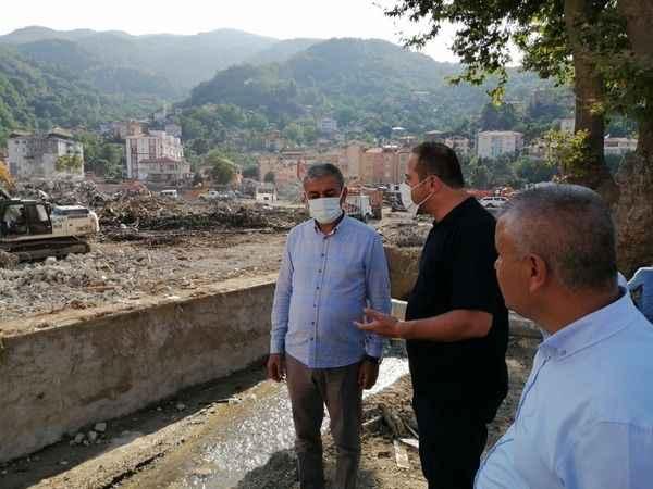 Başkan Kaplan'dan afet bölgesine moral ziyareti