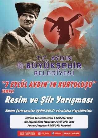 """Büyükşehir Belediyesi, """"7 Eylül Aydın'ın Kurtuluşu"""" temalı resim ve şiir yarışması düzenleyecek"""