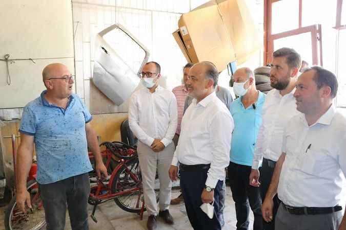 AK Partili Yavuz, Çine'de sanayi esnafıyla bir araya geldi