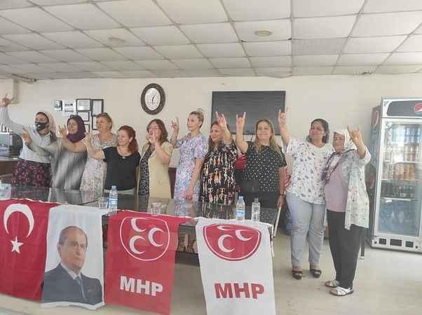 MHP'li kadın başkanlar Köşk'te toplandı