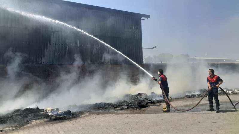 İncirliova sanayisinde korkutan yangın