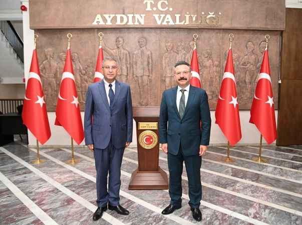 İl Jandarma Komutanı İnan'dan Vali Aksoy'a veda ziyareti