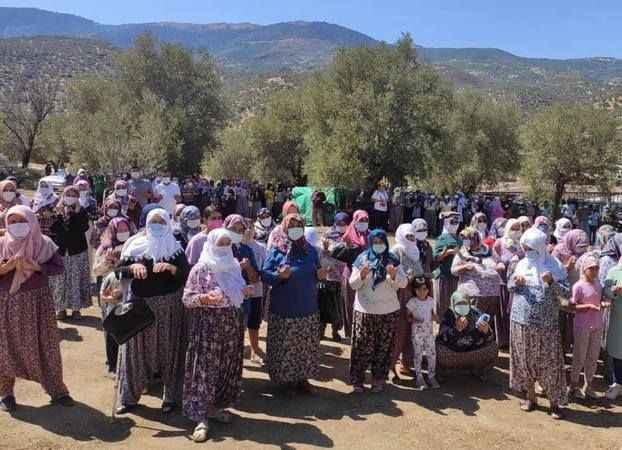 Bozdoğan'da köylüler yağmur duasına çıktı
