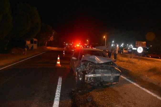 Karacasu'da korkutan kaza ucuz atlatıldı