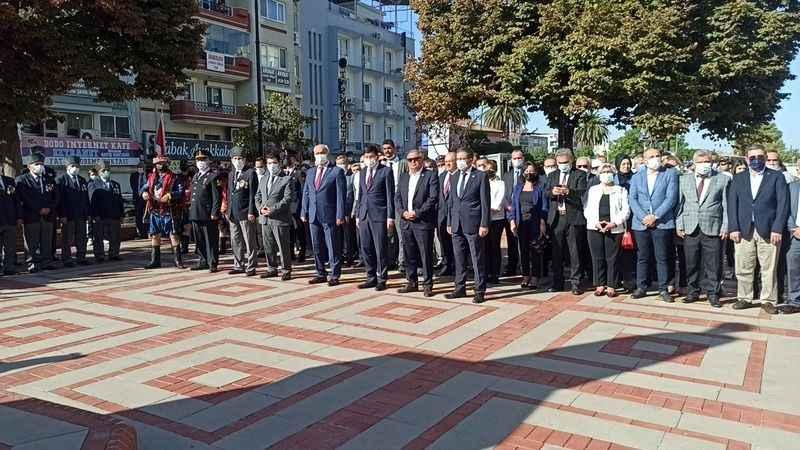 Nazilli'de kurtuluş etkinlikleri için sade tören