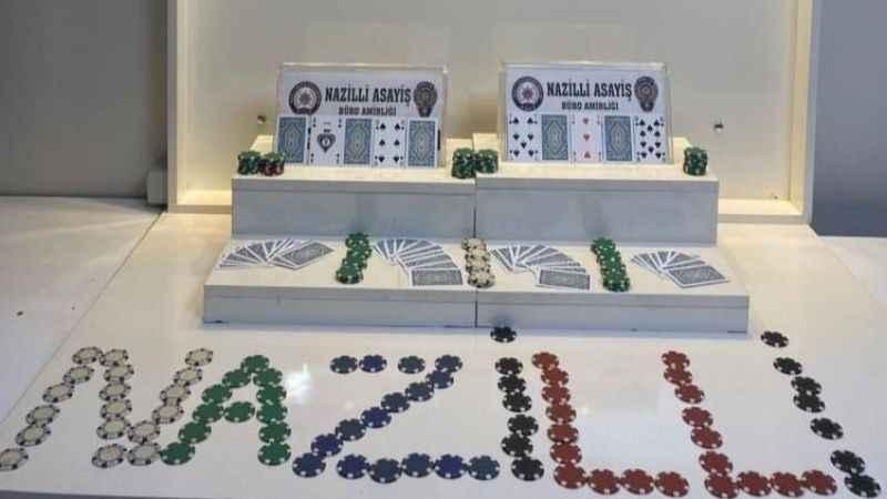 Nazilli'de gece yarısı kumar baskını