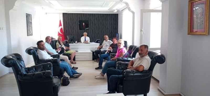 Didim Çalışan Gazeteciler Cemiyeti'nden Yiğit'e ziyaret