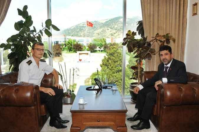 Aydın'a atanan Engin'den Rektör Aldemir'e ziyaret