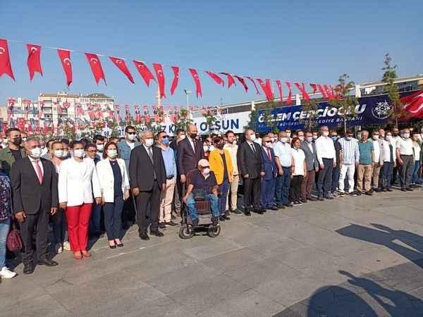 Aydın'da CHP'nin 98'inci kuruluş yıl dönümü kutlandı