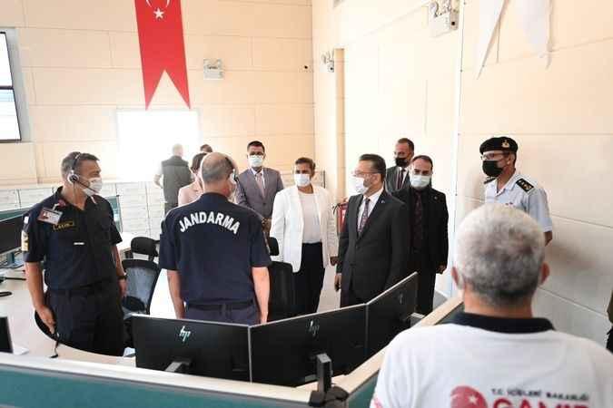 Vali Aksoy ve Başkan Çerçioğlu'dan 112 Acil Çağrı Merkezine ziyaret
