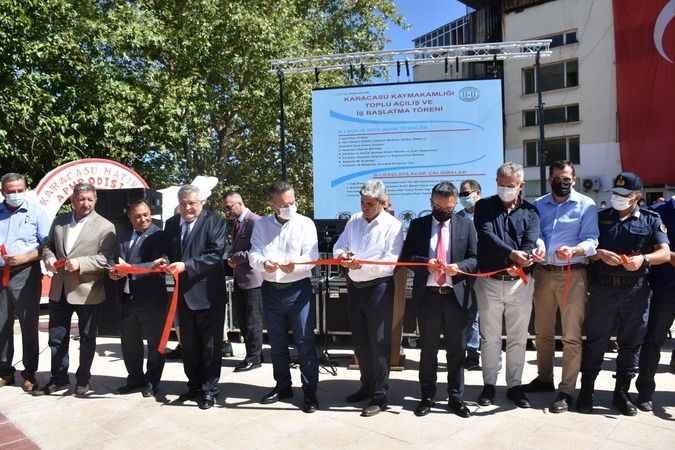 Karacasu'da 7 yer birden açıldı