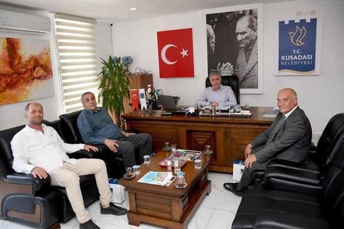 Misafir belediye başkanlarından Kuşadası Belediyesi'ne teşekkür ziyareti
