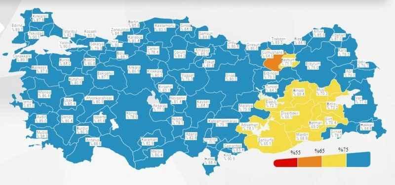 Koronavirüs Risk Haritası'nda son durum