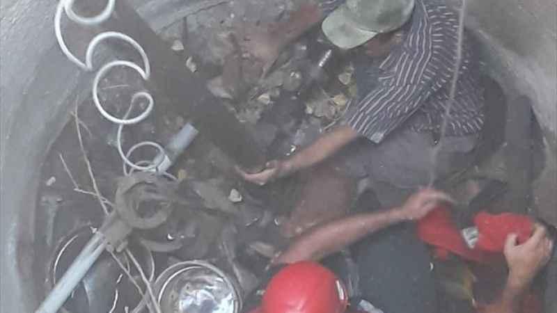 Su kuyusuna düşen kişi itfaiye ekiplerince kurtarıldı