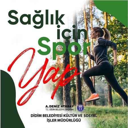 Didim Belediyesi'nden ücretsiz spor aktivitesi