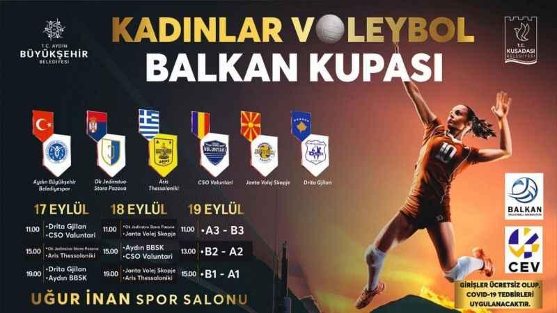 Kuşadası'nda Balkan Şampiyonası heyecanı yaşanıyor