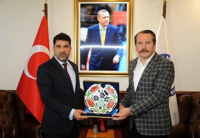 Memur-Sen Genel Başkanı Yalçın'dan Rektöre ziyaret