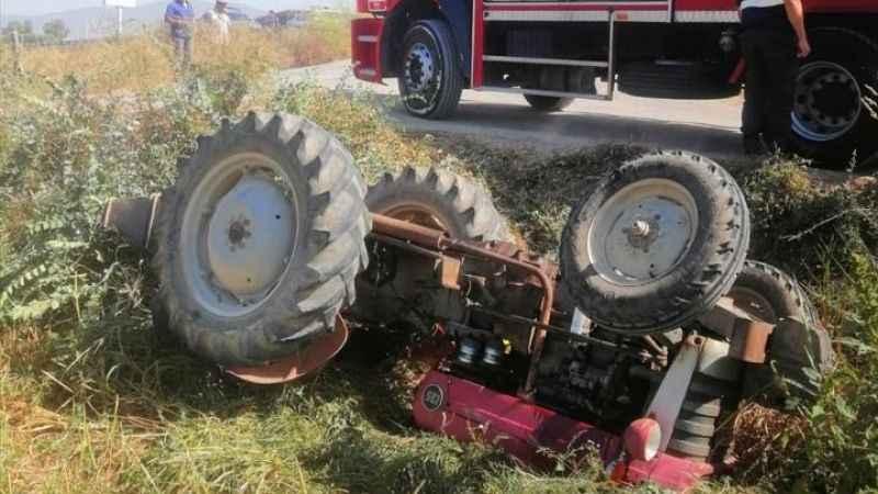 Aydın'da traktör devrildi; 1 yaralı