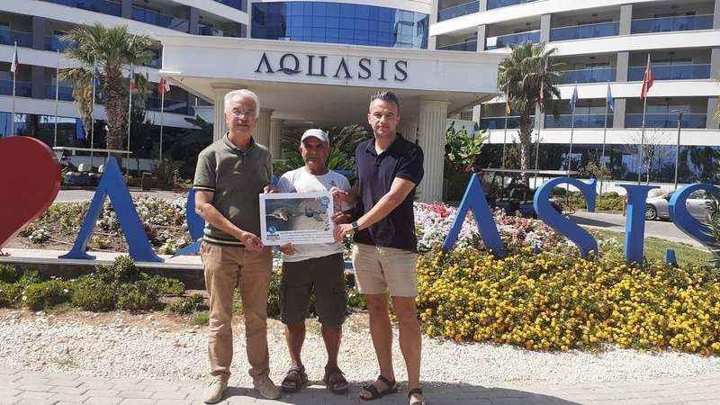 Aquasis Otel'e teşekkür belgesi