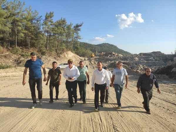 AK Partili Erim, Karpuzlu-Milas yolundaki çalışmaları inceledi
